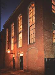 African American Meeting House photo of the Beacon Hill location at nightime
