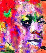a James Baldwin photo rendered on computer by artist Joe Williams