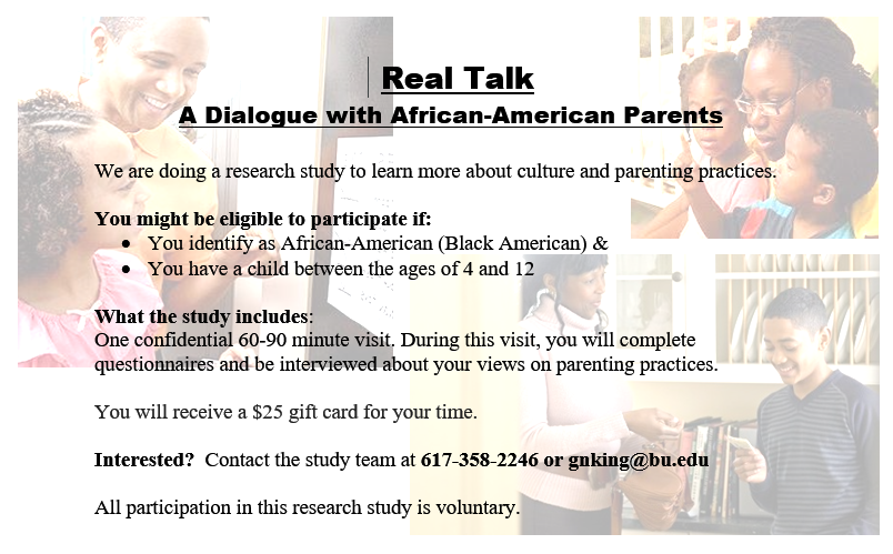 African American parents research study on AboutBlackBoston.com