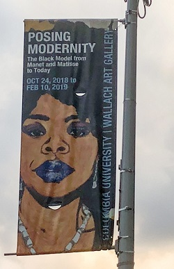 Post Modernity exhibition signs in Harlem