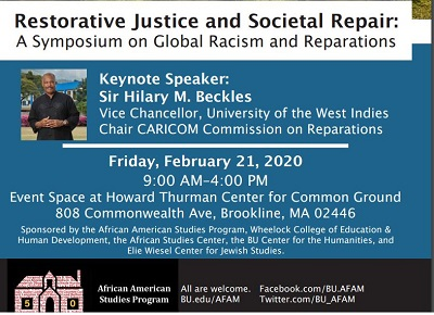 Boston Pan African Forum Presents a Reparations Forum