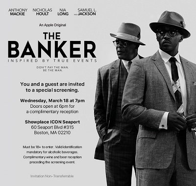 The Banker advance movie screening in Boston